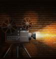 Retro film background vector