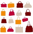 Women bags silhouette vector