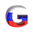 Russian cutted figure g paste to any background vector