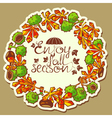 Chestnut wreath vector
