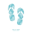 Light blue swirls damask flip flops vector