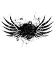 Grunge wings vector