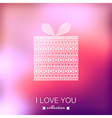 Gift box valentines day background blurred vector