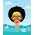 Woman on the sea or ocean vector