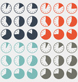 Flat design clock set vector