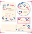 Wedding invitation cards and tag wedding set vector