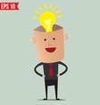 Business man thinking - - eps10 vector