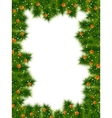 Detailed realistic christmas frame eps 10 vector