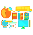 Color school icon collection vector