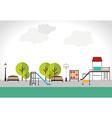 Park design over white background vector
