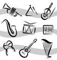 Music instruments vector