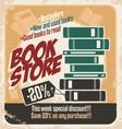 Retro bookstore poster design vector