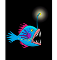 Nice deep sea fish cartoon vector
