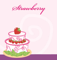 Strawberry cake memo vector