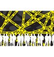 Police caution tape vector