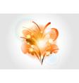 Abstract flower orange light vector