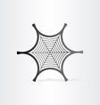 Black spider web symbol vector