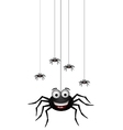 Funny family of spider cartoon for you design vector