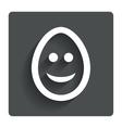 Smile egg face sign icon smiley symbol vector