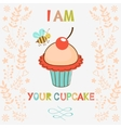 I am your cupcake vector