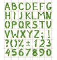 Fir tree green font vector