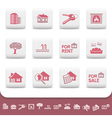 Professional real estate icons vector