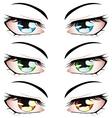 Anime style eyes vector