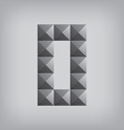 0 number zero alphabet geometric icon and sign vector