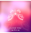 Valentines day background blurred template holiday vector