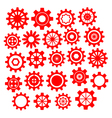 Abstract cogs gears on white vector