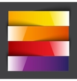 Infographics rainbow shiny paper stripe banners vector