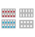Packs of pills vector