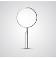 Magnifying glass isolated on grey background vector
