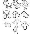 Sketches of dogs vector