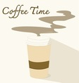 Coffee timeflat icon vector