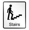 Stairs information sign vector