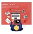 Graphic design and designer tools concept vector