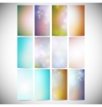 Abstract colored backgrounds set modern vertical vector