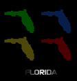 Florida dotted maps vector