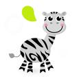 Cute cartoon zebra vector