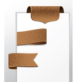 Set of leather labels - vector