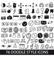Doodle style icons vector