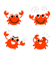 Cartoon crab vector