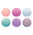 Colorful web buttons isolated on white set vector
