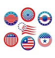 American national banners and symbols vector