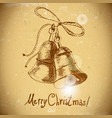 Christmas bell vintage background vector