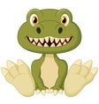 Cute baby tyrannosaurus cartoon vector