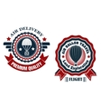 Air delivery and hot air balloon badges vector