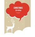 Christmas greeting card with white christmas deer vector