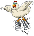 Chicken above the spring vector